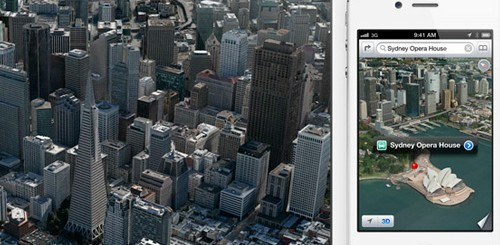 iOS 6 Mappe, Flyover