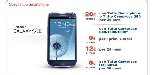Samsung Galaxy S3: l'offerta speciale di TIM