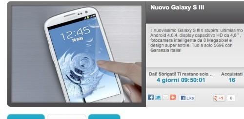 Groupalia sconta nuovamente il Samsung Galaxy S3 a 569 euro