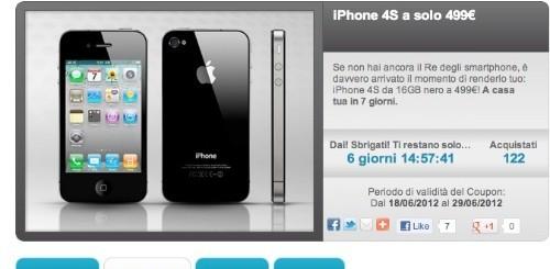 Groupalia: Apple iPhone 4S 16 GB a 499 euro