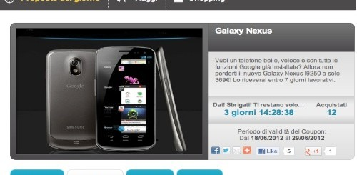 Groupalia: Galaxy Nexus a 369 euro
