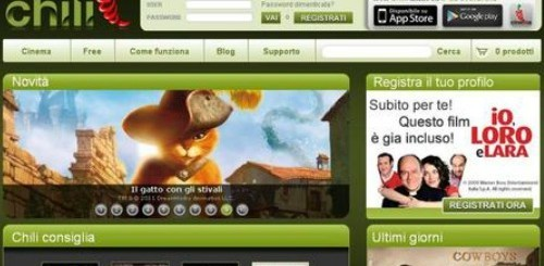 Chili, streaming on-demand di Fastweb