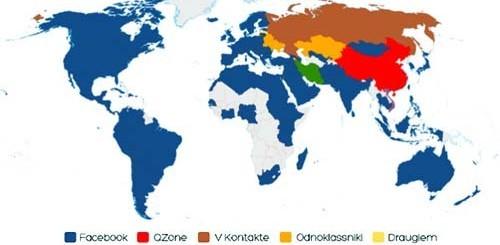 mappa dei social network