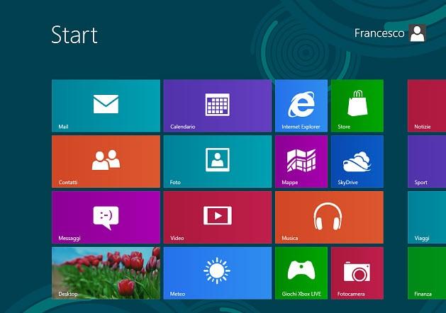 Windows 8, interfaccia Metro