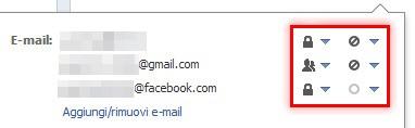 Impostazione indirizzo e-mail di default su Facebook