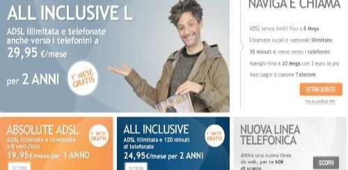 Infostrada: primo mese gratis e sconto sul canone per All Inclusive e Absolute ADSL
