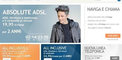 Infostrada: canone scontato per 2 anni per Absolute ADSL e All Inclusive