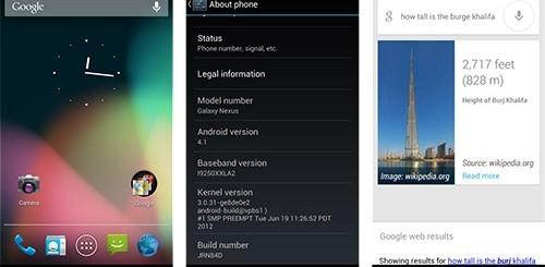 Android 4.1 Jelly Bean su Galaxy Nexus