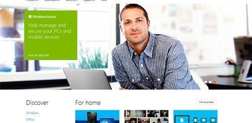 Microsoft.com restyling
