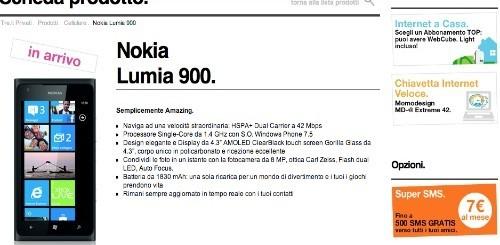 Nokia Lumia 900: le offerte in abbonamento di 3 Italia