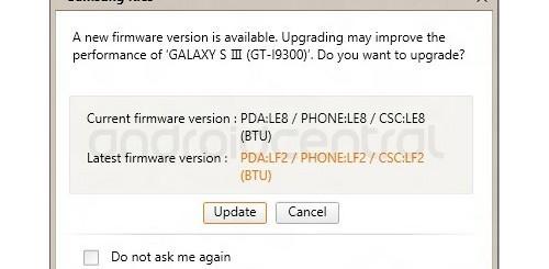 Samsung Galaxy S3, primo aggiornamento