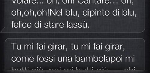 Siri canta in italiano