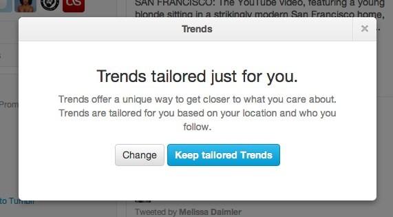 Twitter annuncia i Trends personalizzati