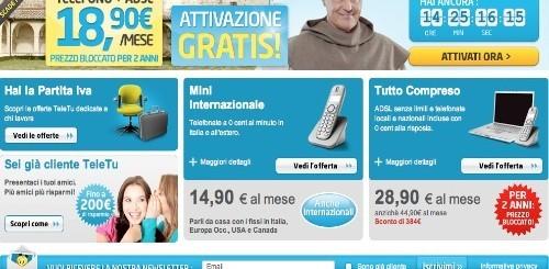 TeleTu: Tutto per Te a soli 18,90 euro al mese per due anni