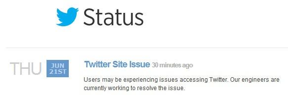 Twitter Status Update