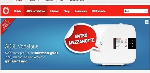 ADSL Vodafone: 29 euro al mese per due anni e parli con i cellulari Vodafone gratis per un anno