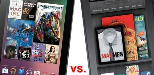 Google Nexus 7 vs. Amazon Kindle Fire