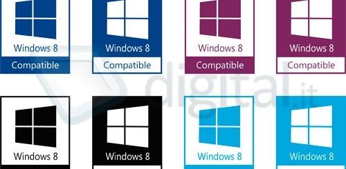 Windows 8, loghi di compatibilità