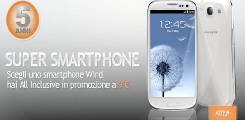 Wind: All Inclusive e Super Smartphone in promozione per 5 anni