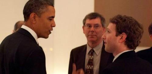 Barack Obama con Mark Zuckerberg