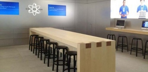 Apple Store nuovo layout Genius Bar