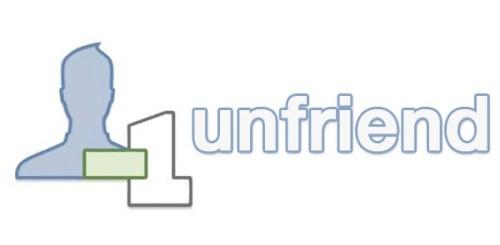 Facebook unfriend