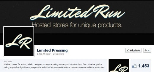 Limited Run Facebook Page