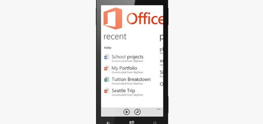 Office 2013 su Windows Phone 8