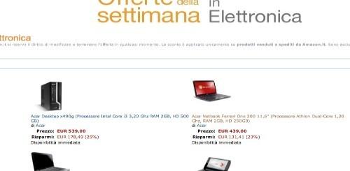 Amazon Italia: le offerte di elettronica della settimana