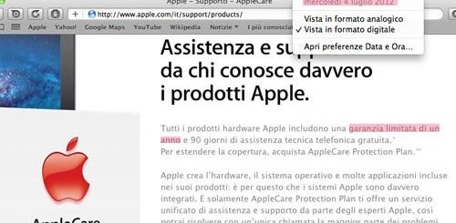 Garanzia sito Apple