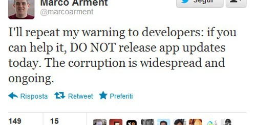 Marco Arment su Twitter