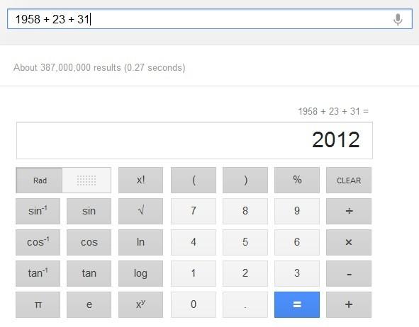 La calcolatrice di Google.com