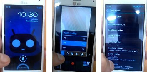 CyanogenMod 10 su LG Optimus 4X HD