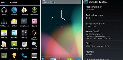 CyanogenMod 10, Jelly Bean su Galaxy S2