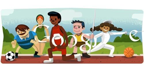 Olimpiadi di Londra 2012, Google doodle