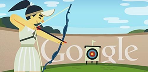 Olimpiadi 2012, doodle tiro con l'arco