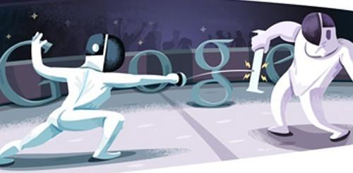 Olimpiadi di Londra 2012, Google doodle per la scherma