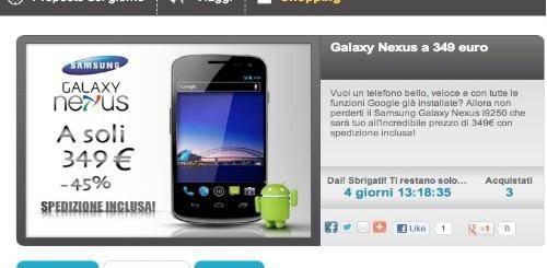 Galaxy Nexus a 349 euro da Groupalia