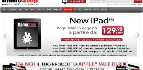 Apple Nuovo iPad in vendita anche nei negozi GameStop