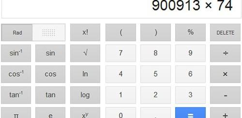 Google, calcolatrice