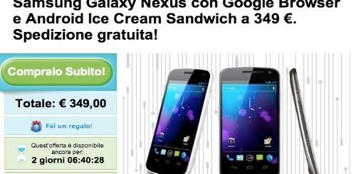Groupon: Galaxy Nexus a 349 euro e Samsung Galaxy Note a 469 euro