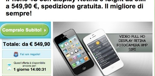 Groupon: Apple iPhone 4S a 549,90 euro