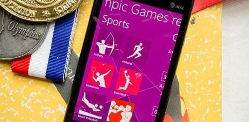 Olimpiadi di Londra 2012, app Windows Phone