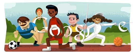 Olimpiadi 2012, il doodle per l'inaugurazione