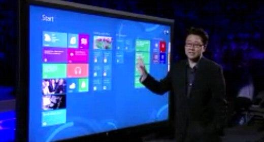 La presentazione del display Perceptive Pixel da 82 pollici con Windows 8