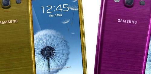 Samsung Galaxy S3, nuove colorazioni
