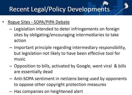 slide RIAA su SOPA