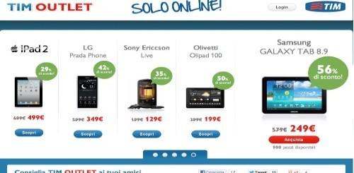 TIM Outlet: sconti su smartphone e tablet pc sino al 56%