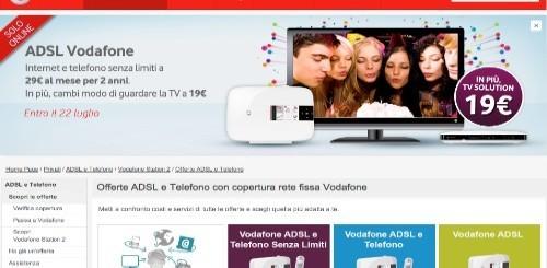 Vodafone: canone scontato per 2 anni e servizio TV Solution per chi aderirà ai piani voce e dati