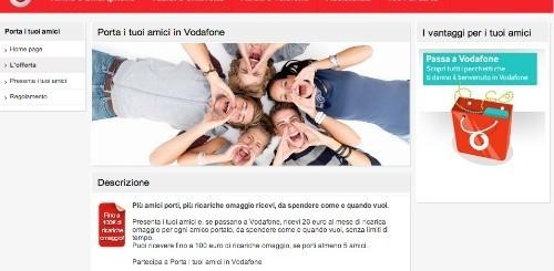 Sino a 100 euro di ricarica omaggio per chi porter un - Vodafone porta un amico ...